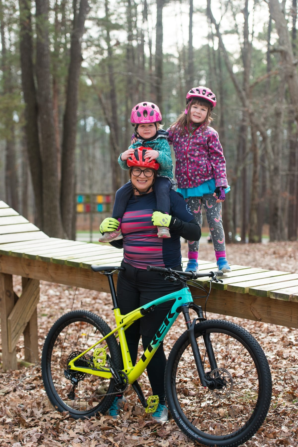 Mom and Kids Family Mountain Biking Chatham Magazine Photo by Beth Mann Dec 2019