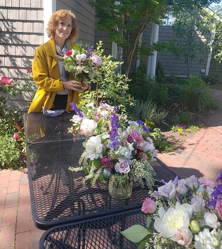 Bett Wilson Foley was named principal floral designer at Fearrington Village