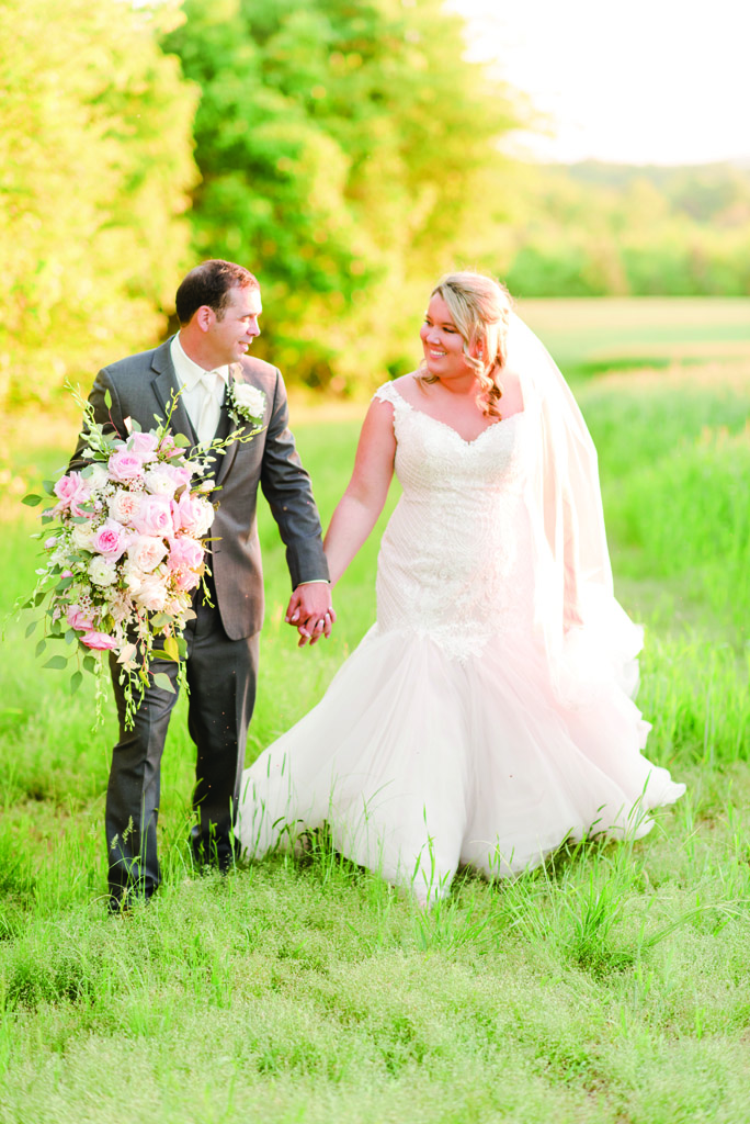 Bride and Groom Pretty in Pink Wedding by Bee-utiful Events Leonard Photography