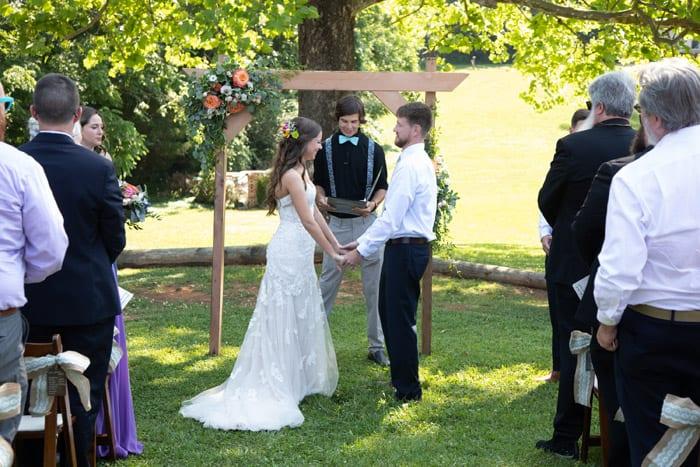 Lauren and Logan Spring Wedding at Forest Halls at Chatham Mills Heba Salama