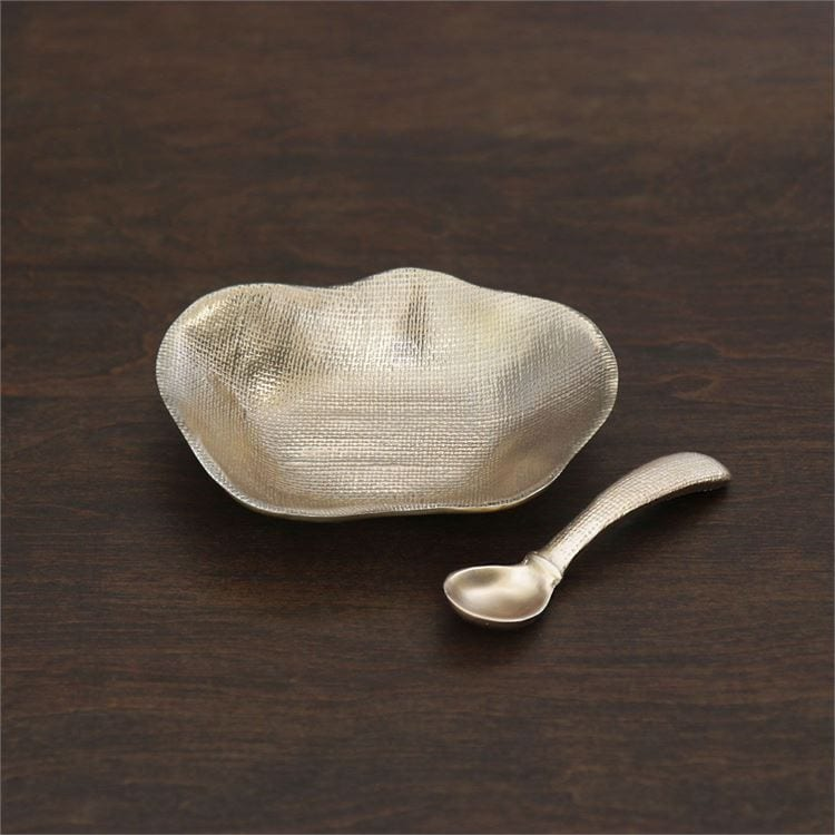 Sierra Kioto Gold Bowl and Spoon Steel Roots Home Decor Holiday Gift Guide