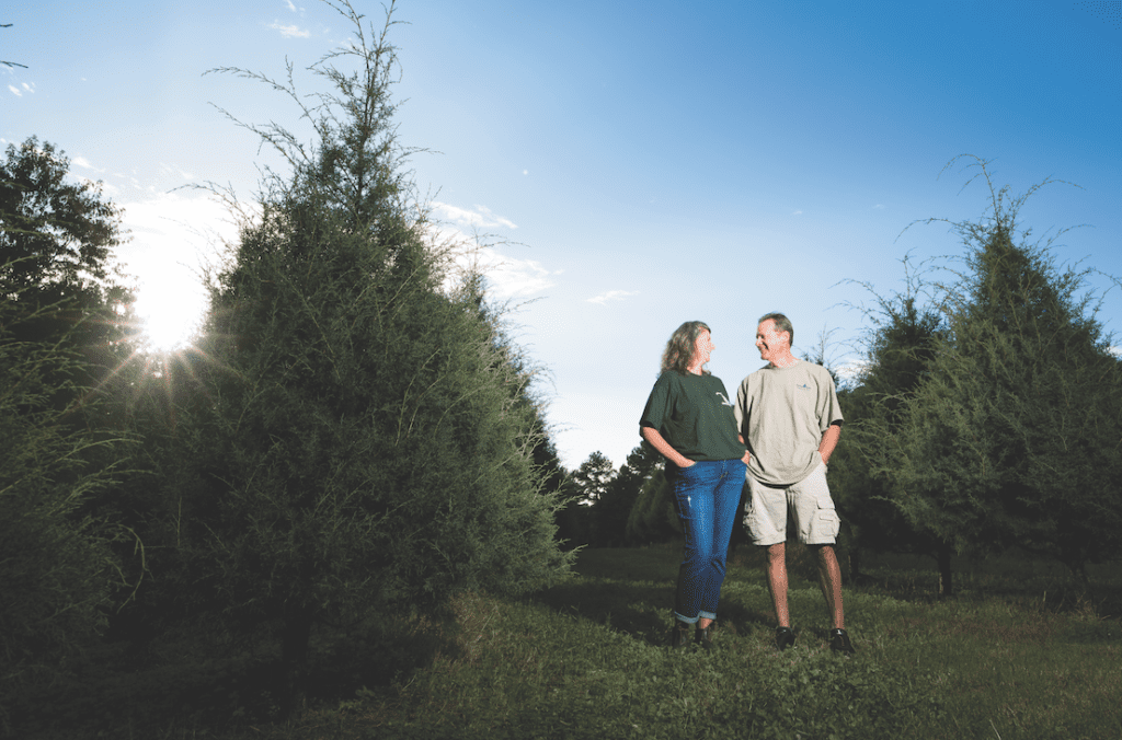 Byron and Diana May, owners of Jordan Lake Christmas Tree Farm