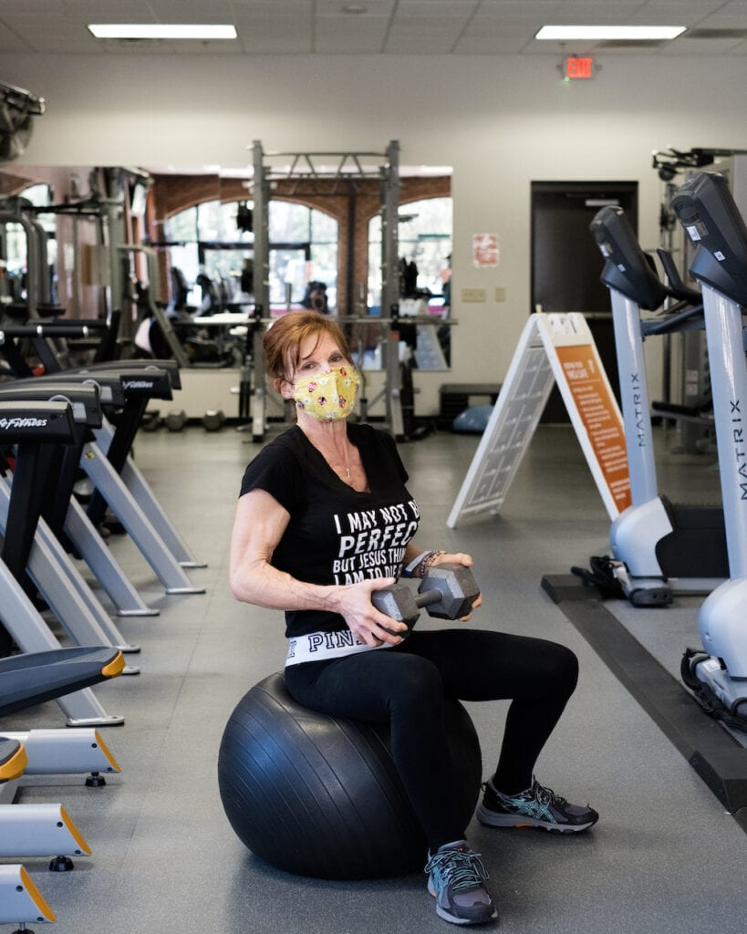 Clients return to their pre-pandemic workout routines as gyms and fitness studios reopen in Chatham County